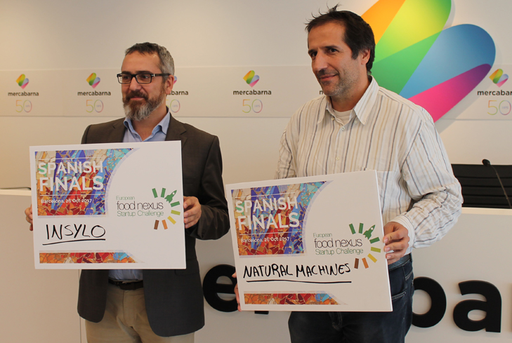 """Spanish startups """"Insylo"""" and """"Natural Machines"""" win the National Final of the """"European Food Nexus Startup Challenge""""."""