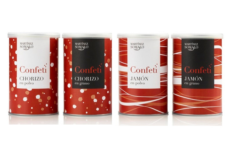 """CLUSTER FOOD+i member MARTÍNEZ SOMALO wins the 2018 INNOVAL most innovative product award for its """"CONFETI"""" range of granulated chorizo and ham."""